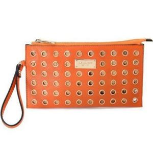 Michael Kors Colgate Grommet Large Orange Wallets